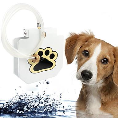 Hund Futter-Vorrichtungen Haustiere Schüsseln & Füttern Weiß