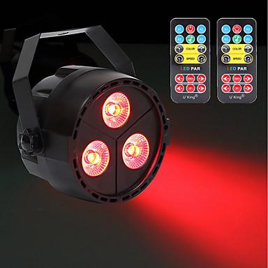 U'King Oświetlenie LED sceniczne DMX 512 Master-Slave Aktywowana Dźwiękiem Auto Pilot zdalnego sterowania Wolnostojący na Klub Impreza