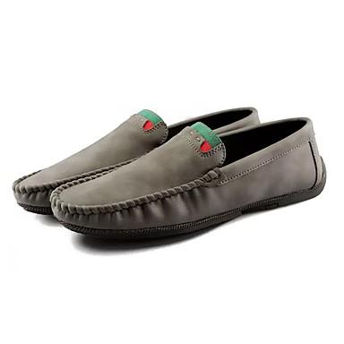 Męskie Buty PU Zima Futro lining Mokasyny Comfort Mokasyny i pantofle na Casual Black Gray