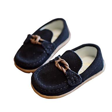 Dla chłopców Buty Skóra Nubuk Wiosna Jesień Comfort Mokasyny i pantofle na Casual Black Gray