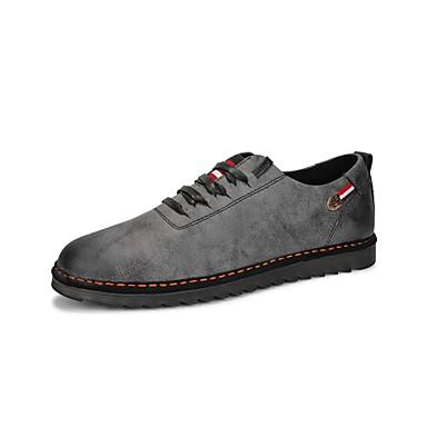 Męskie Buty Skóra Wiosna Jesień Comfort Tenisówki Szurowane Na Casual Black Brown Khaki
