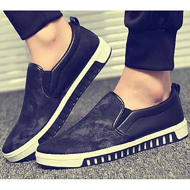 Herren Schuhe Stoff Frühling Herbst Komfort Loafers & Slip-Ons für Normal Schwarz Rot