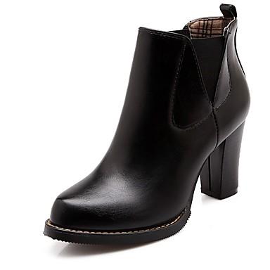 Damen Schuhe Kunstleder PU Winter Komfort Neuheit Modische Stiefel Stiefel Runde Zehe Booties / Stiefeletten für Kleid Party & Festivität
