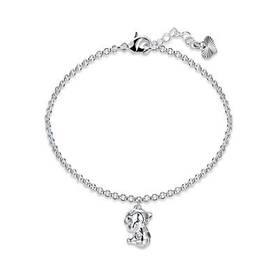 Damen Ketten- & Glieder-Armbänder / Armband - versilbert Einfach, Retro, Grundlegend Armbänder Silber Für Alltag / Valentinstag