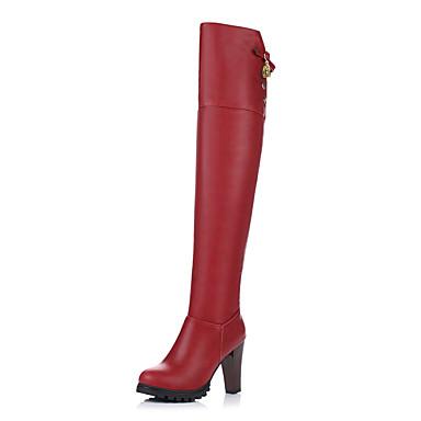 Vin Automne Microfibre Perle Bottes Femme Cuissarde Imitation Marron rond Bottes Hiver à Mode Fermeture Bout la Chaussures 06347221 Boucle qwCCTEx4