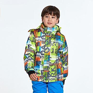 Dla dzieci Kurtka narciarska Wodoodporny Keep Warm Wiatroodporna Zdatny do noszenia Oddychalność Narciarstwo Polyster