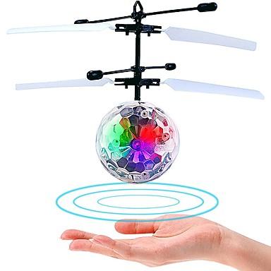 hesapli Oyuncaklar ve Oyunlar-Mini Sihirli Uçan Top Uçan Gereçler Hava Aracı Helikopter Hediye Karanlıkta Parlayan LED Plastik Genç Erkek Genç Kız Oyuncaklar Hediye / Florasan / Kızılötesi Sensöz ile birlikte