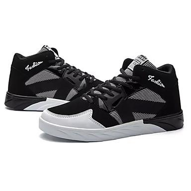 Damen Schuhe Tüll Frühling Herbst Komfort Sneakers Runde Zehe Schnürsenkel Für Normal Weiß Schwarz
