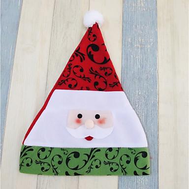 Święto Kostiumy Św. Mikołaja Christmas Hat Brown Czerwony Green Tkanina Akcesoria do cosplay Boże Narodzenie