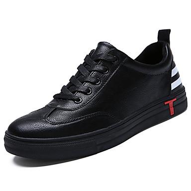 Męskie Buty Guma Zima Comfort Tenisówki Null Null Black / Czerwony