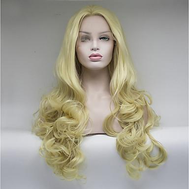 Syntetyczne koronkowe peruki Włosy syntetyczne Biały Peruka Damskie Medium Peruka naturalna Koronkowy przód
