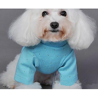 Hund Pullover Hundekleidung Lässig/Alltäglich Solide Grün Blau Rosa Kostüm Für Haustiere
