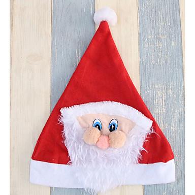 Święto Kostiumy Św. Mikołaja Czapki Czerwony Tkanina Akcesoria do cosplay Boże Narodzenie