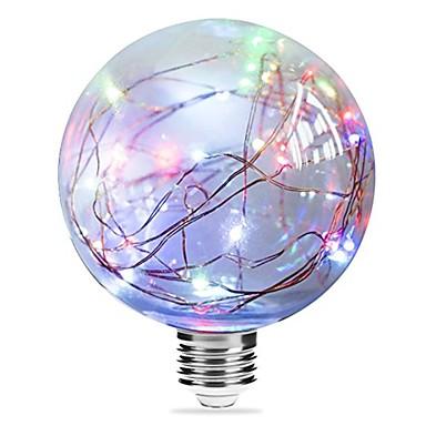 billige Elpærer-1pc 3 W LED-glødepærer 250 lm E27 G95 33 LED perler Integrert LED Stjernefull Blå Rosa Multifarget 85-265 V / RoHs