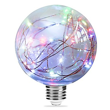 1pc 3W 250lm E27 LED Glühlampen G95 33 LED-Perlen Integriertes LED sternenklar Mehrfarbig Rosa Blau 85-265V