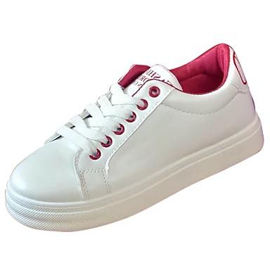 Damen Schuhe Gummi Winter Komfort Sneakers Runde Zehe Schnürsenkel Schwarz / Rot / Grün