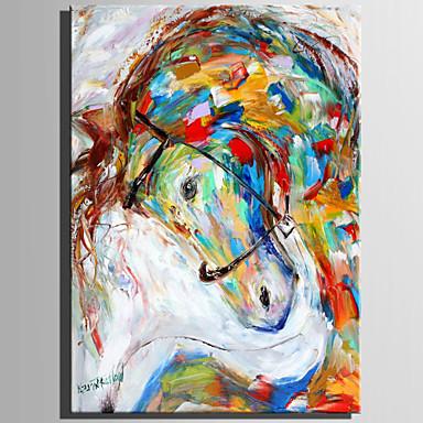 Ręcznie malowane Zwierzęta Pionowy, Rustykalny Nowoczesny Brezentowy Hang-Malowane obraz olejny Dekoracja domowa Jeden panel