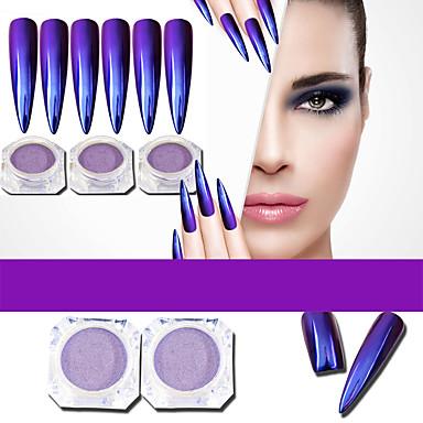 1 Proszek akrylowy Nail Glitter Glitter Proszek Puder Efekt lustra Błyszczące Nail Art Design