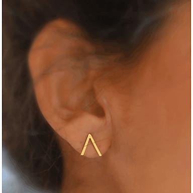 halpa Muotikorvakorut-Naisten Niittikorvakorut Monogrammit naiset Perus Muoti Gold Plated korvakorut Korut Kulta Käyttötarkoitus Päivittäin Kausaliteetti