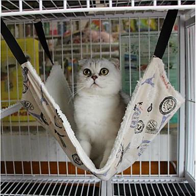 Kot Pies Łóżka Zwierzęta domowe Maty i podkładki Groszki W stylu brytyjskim Keep Warm Przenośny Składany Měkké Nadający się do prania