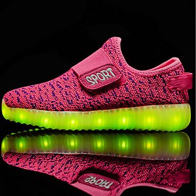 Dla dziewczynek Obuwie Skóra PVC / Materiał do wyboru / Tiul Jesień / Zima Comfort / Świecące buty Tenisówki Spacery Tasiemka / LED na