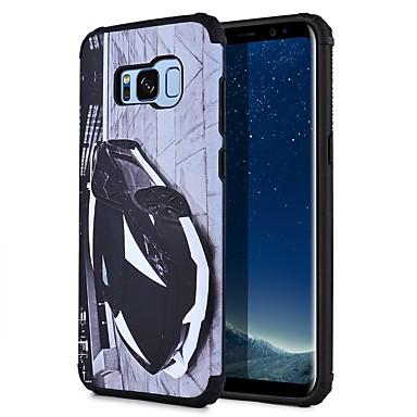 Kılıf Na Samsung Galaxy S8 Plus S8 Wzór Czarne etui Widok miasta Twarde PC na S8 Plus S8 S7 edge S7