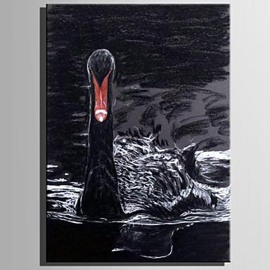 Hang-Malowane obraz olejny Ręcznie malowane - Zwierzęta Rustykalny Nowoczesny Brezentowy