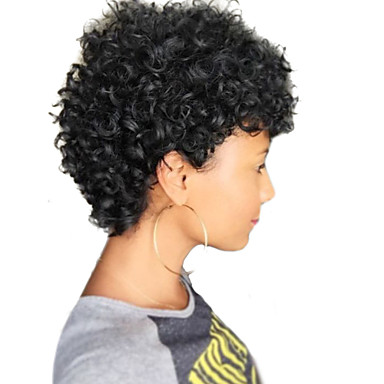 Human Hair Capless Wigs Human Hair Curly Jerry Curl African American