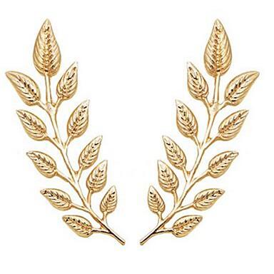 Broszki - Kształt listka Klasyczny, Moda Broszka Złoty Na Codzienny / Formalny