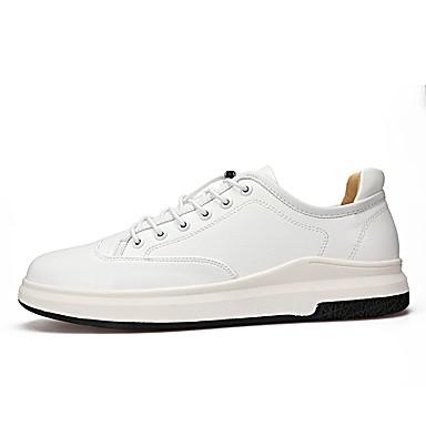 Herren Schuhe Künstliche Mikrofaser Polyurethan Frühjahr, Herbst, Winter, Sommer Komfort Leuchtende Sohlen Sneakers Für Normal Weiß