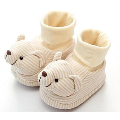 Baby Schuhe Baumwolle Winter Herbst Komfort Lauflern Stiefel für Normal Weiß Beige