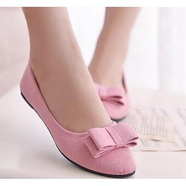 Damen Schuhe PU Frühling / Sommer Komfort Flache Schuhe Schwarz / Rosa