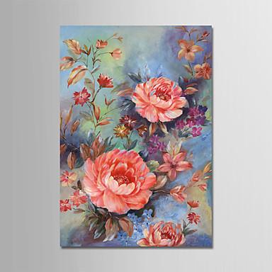 Handgemalte Blumenmuster/Botanisch Vertikal,Modern Ein Panel Leinwand Hang-Ölgemälde For Haus Dekoration