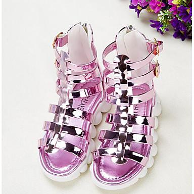 Mädchen Schuhe PU Herbst / Winter Komfort Sandalen für Gold / Rosa