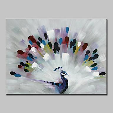 Hang malte oljemaleri Håndmalte - Dyr Moderne Lerret