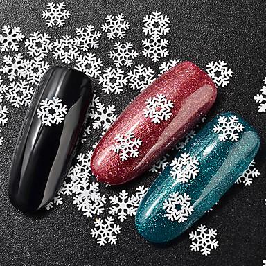1 Metaliczny Modny Święta Bożego Narodzenia Naklejki Wysoka jakość Nail Art Design Codzienny