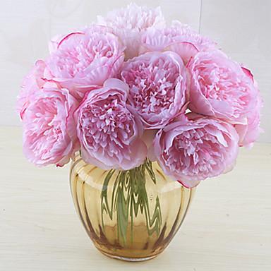 5 Gałąź Jedwab Piwonie Bukiety na stół Sztuczne Kwiaty