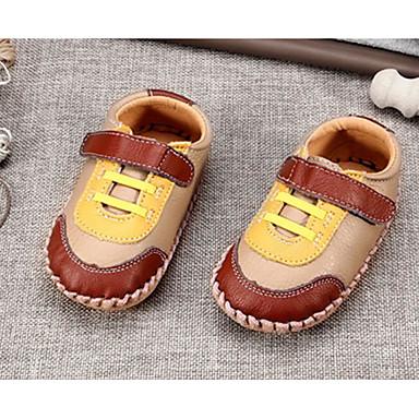 Baby Schuhe Leder Frühling Herbst Komfort Lauflern Flache Schuhe für Normal Braun