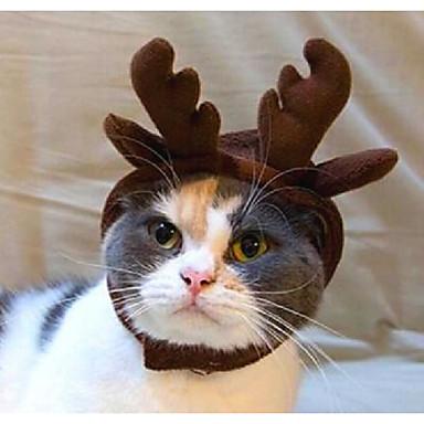 Kot Pies Tiary i korony Bandany i kalepusiki Ubrania dla psów Jendolity kolor Materiał Kostium Dla zwierząt domowych nowy Headwarmers