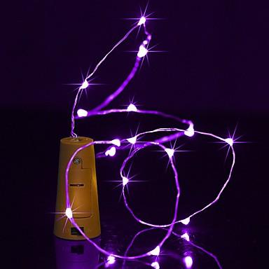 BRELONG® 2 m Łańcuchy świetlne 20 Diody LED Ciepła biel / Biały / Czerwony Wodoodporne <5 V 1 szt.