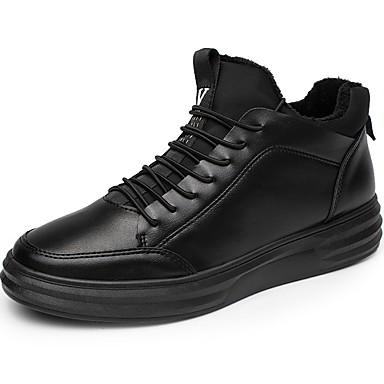 Męskie Buty Syntetyczny Microfiber PU PU Derma Jesień Zima Comfort Tenisówki na Casual Black Black/White