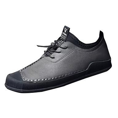 Męskie Buty Syntetyczny Microfiber PU Zima Jesień Comfort Tenisówki na Casual Black Gray