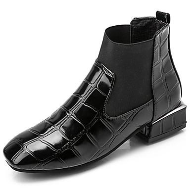 Damen Schuhe Gummi Winter Springerstiefel Stiefel Runde Zehe Schnürsenkel Schwarz