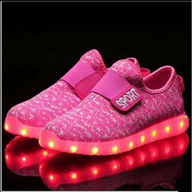 b0a7f6b49d8 Αγορίστικα Παπούτσια Πλεκτό / Πλέγμα που αναπνέει Άνοιξη Ανατομικό /  Svítící podrážky / Φωτιζόμενα παπούτσια Αθλητικά Παπούτσια Ταινία Δεσίματος  / LED για ...