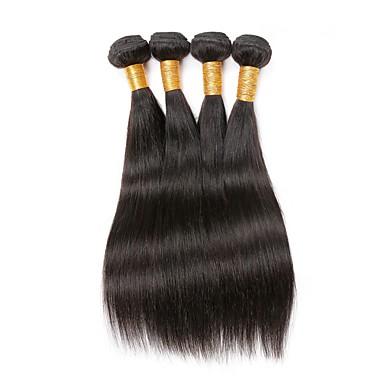4 zestawy Włosy brazylijskie Prosta Włosy naturalne remy Fale w naturalnym kolorze Ludzkie włosy wyplata Ludzkich włosów rozszerzeniach
