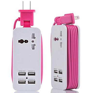 hzn402 ładowarka do telefonu komórkowego wielofunkcyjna wtyczka ładowarka usb 4usb wieloportowa wtyczka podróżna