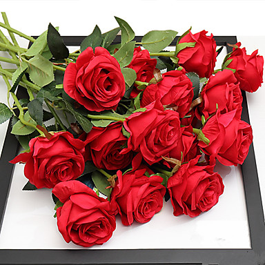 Sztuczne Kwiaty 5 Gałąź Ślub / Fason europejski Róże Bukiety na stół