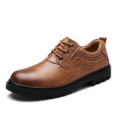Męskie Komfortowe buty Skóra / Derma Wiosna / Jesień Oksfordki Spacery Czarny / Light Brown / Dark Brown