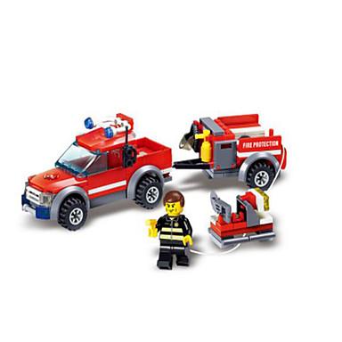 Klocki 143pcs Pojazdy Wóz strażacki Dla chłopców Zabawki Prezent