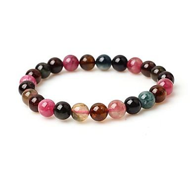 abordables Bracelet-Bracelet à Perles Femme Gemme simple Mode Bracelet Bijoux Marron Forme de Cercle pour Plein Air